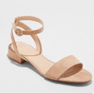 NWT A New Day Winona Ankle strap sandal taupe
